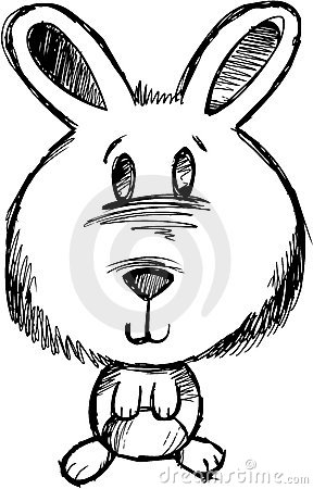 Sketchy Bunny Rabbit Vector