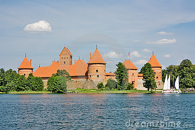 Lithuanian castle of Trakai