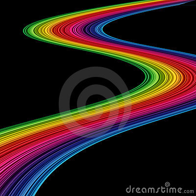Abstract amazing rainbow