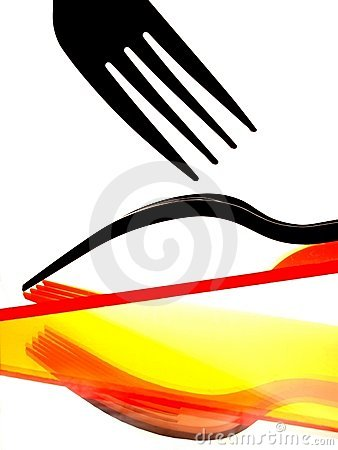 Fork and Reflections Abstract Background