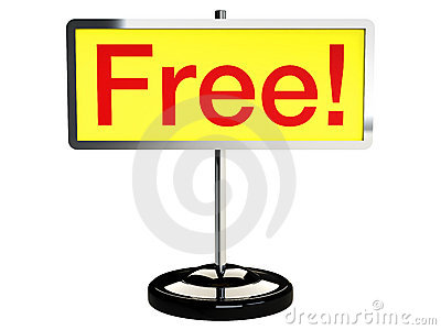 Free sign board