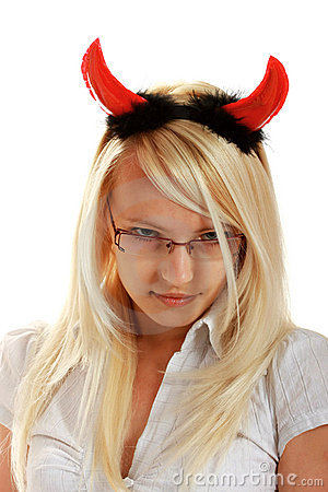 Cute little devil with horns