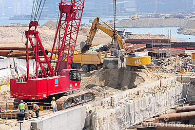 Construction site and land reclamation