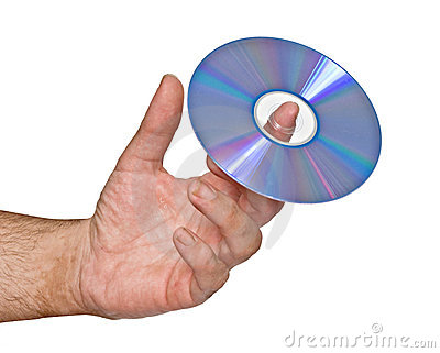 DVD on finger