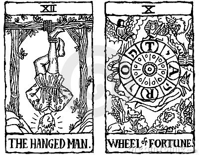 Two Tarot Cards outline v.6