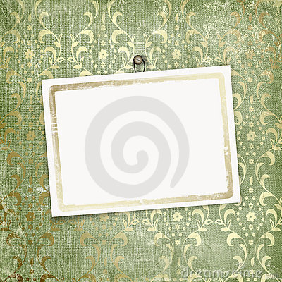 Green abstract background with card