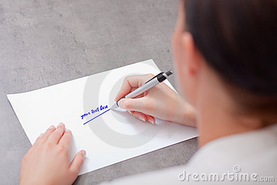 Blank business paper with pen