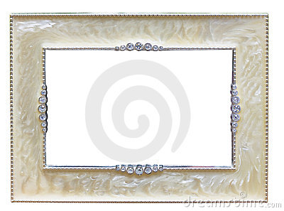 Classical old-fashion retro silver frame