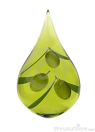 Drop of olive oil