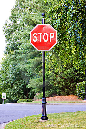 Stop sign on the street