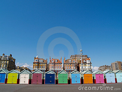 Beach Huts, front view.