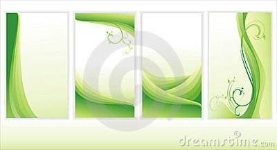 Set of green backgrounds.