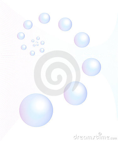 Blue bubble and circle sphere