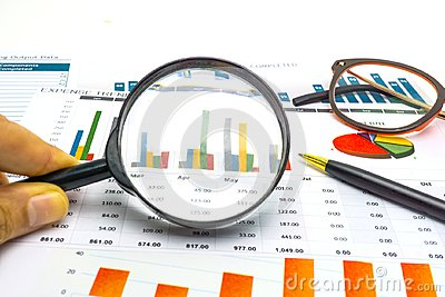 Charts and Graphs paper. Financial, Accounting, Statistics, Analytic research data and Business company meeting concept