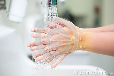 Hand washing is a cleansing