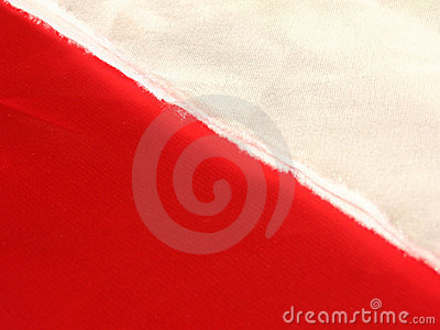 Fabric white red