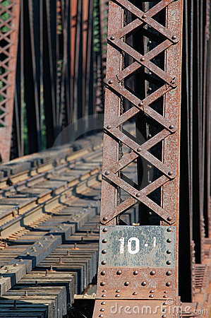Train bridge on riviere des mille iles, Canada 2