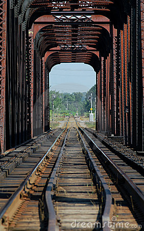 Train bridge on riviere des mille iles, Canada 3