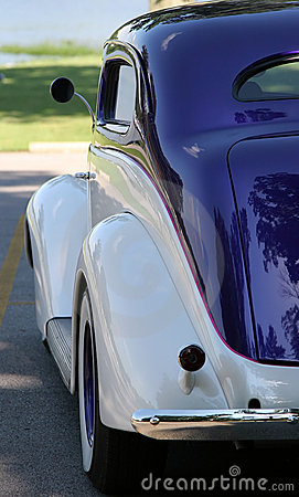 Vintage car - rear view