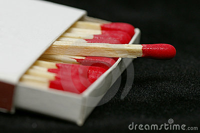 Red Tipped Wooden Match Sticks