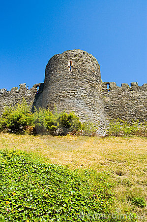 Old Castle wall and turret