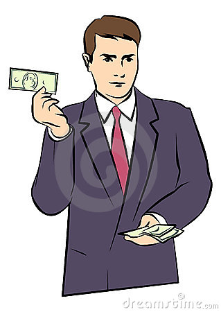 Man with Money in His Hands.