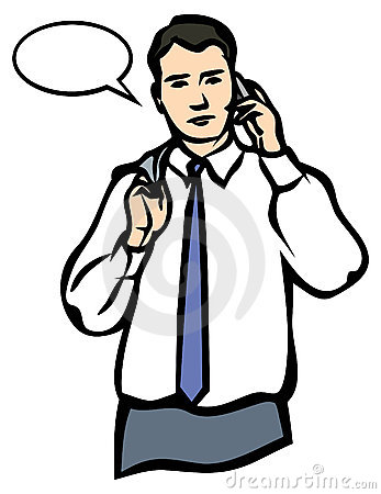 A Man speaking on a Mobile Phone. JPG and EPS