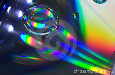 Drop on CD-disk