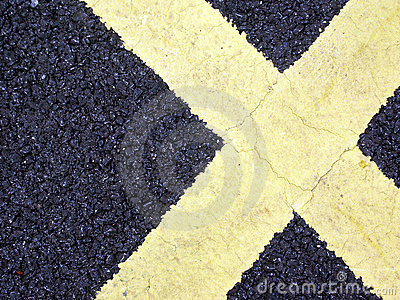 Road Markings in shape of X