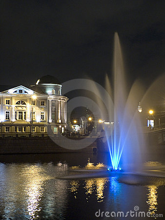 Fountain in the river