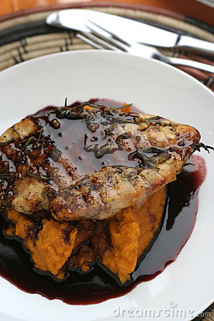 Veal and Red wine sauce