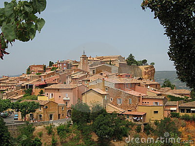View of the village of Roussillon in the Provence