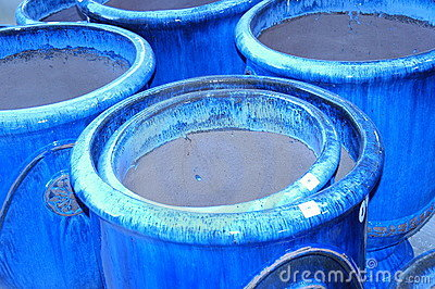 Blue Clay Pots