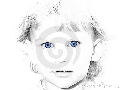 Blue Eyed Girl Selective color