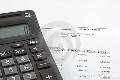 Sales quotation and calculator