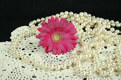Daisy lace and pearls