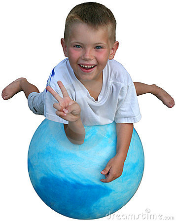 Peace on a ball