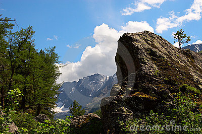 Mountain landscape of Altay.