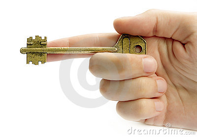 Pointing Hand With A Key