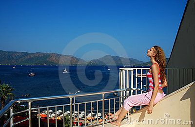 Girl on the balcony