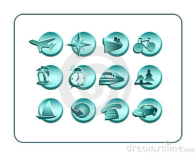 Icon Set with clipping paths
