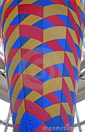 Colorful cone pattern