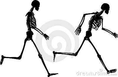 Jogging skeletons