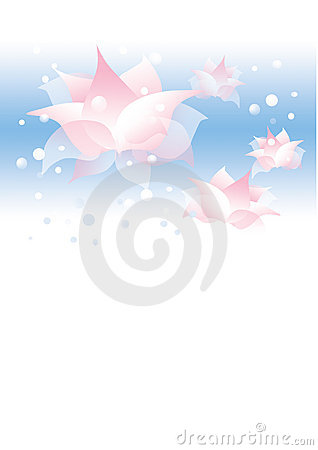 Background with water flowers