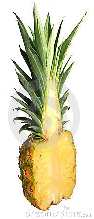 Half of pineapple