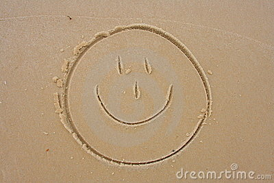 Smiley Face in the sand