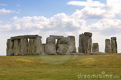 Stonehenge with Clouds - England