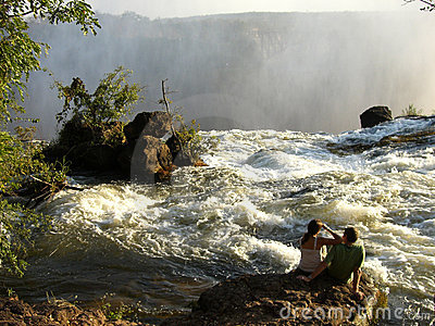 Livingston Falls in Zambia Africa