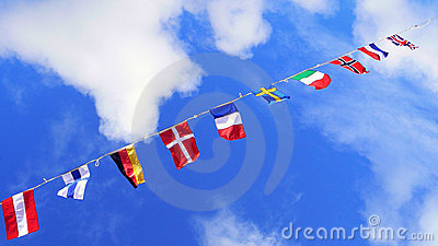 Flags, united colors of the world