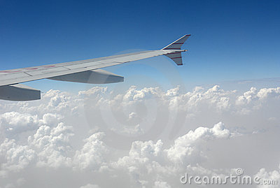 Aircarft in clouds